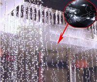 Wholesale led curtain 12 for sale - Group buy 3Mx3M LED drop String Fairy Curtain Lights Christmas lamps V V AU UK EU US plug