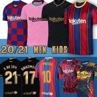 Wholesale 10 Messi new Barcelona Soccer Jersey Griezmann FATI MARTENS Semedo PIQUÉ Busquets Suarez Camiseta de Fútbol Umtiti Firpo Dembélé