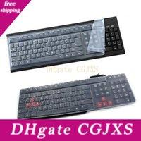 Wholesale keyboard skins resale online - Universal Silicone Desktop Computer Keyboard Cover Skin Protector Film Cover T190619