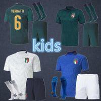 Wholesale soccer uniforms italy resale online - 2020 italy Soccer Jerseys CHIELLINI CANDREVA Italy ROMAGNOLI rd Football uniform Home Soccer Shirt kids kit Away INSIGNE