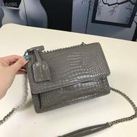 Wholesale fashion retro vintage purse handbag for sale - Group buy Crossbody Bag Purse Fashion Medium Bags Crocodile Embossed Leather Handbag Bag Women Bags Style Handbag Retro Vintage Shoulder Bag