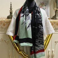 Wholesale hand printed scarf resale online - New design silk scarves size CM CM silk material print pattern hand hemming suqare shawl scarf for women