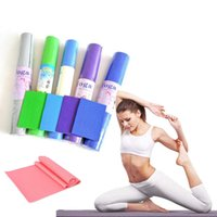 Wholesale beginner yoga for sale - Group buy US Stock mm thick PVC Yoga Mat cm Non Slip Fitness Exercise Mat Workout Floor Exercise Use Randomly Picked Color