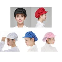 Wholesale chef hats for sale - Group buy 5Pack Men Women Chef Hat Adjustable Cooking Catering Cap Breathable Cotton Half Mesh