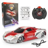Wholesale wall cars toys for sale - Group buy Children remote control vehicle toys Dirving steadily on wall and floor LED light rotation stunt climbing electric car for kids gift