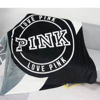 Wholesale coral fleece throws resale online - Knitted Gray Black Striped Thin Throw Blankets Manta Coral Flannel Blanket Sofa Couch Bed Plane Travel Plaids Summer TV Blanket