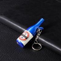 Wholesale bottle opener collection resale online - Mini Keychain Bottle Lighter Multifunctional Bottle Opener Windproof Jet Torch Lighter for Cigarette Collection