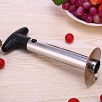 Wholesale spiralizer kitchen tool resale online - Stainless Steel Pineapple Peeler Cutter Slicer Corer Peel Core Tools Fruit Vegetable Knife Gadget Kitchen Spiralizer BWD1064