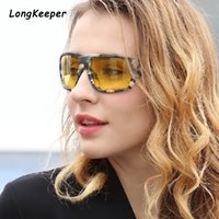 Wholesale yellow night vision eyeglass resale online - Polarized Night Vision Sunglasses Men Sun For Woman Sunglass Driving Glasses Vintage Goggle Eyeglasses Oculos de