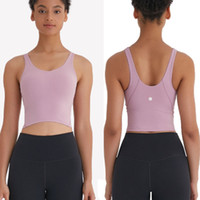 Wholesale workout clothes for sale - Group buy woman s Yoga sports bra bodybuilding all match casual gym push up bras high quality crop tops indoor outdoor workout clothing L
