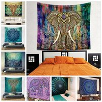 Wholesale beach style home decor for sale - Group buy Wall Hanging Tapestries Styles Bohemian Mandala Elephant Beach Towel Shawl Yoga Mat Table Cloth Polyester Tapestries Home Decor CCA12414