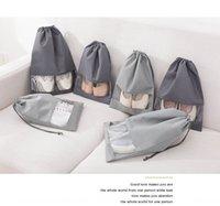 Wholesale plain drawstring shoe bags resale online - Shoes storage drawstring non woven Storage bag top non woven shoe bags portable soccer shoes drawstring shoe bag organizing folders