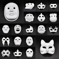Wholesale diy cosplay resale online - DIY Paper Masks Masquerade Halloween Masks Party Cosplay Cartoon Maske Carnival Ball Face Women Carnaval Masque Prop DHF654