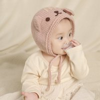 Wholesale crochet cat beanie baby hats for sale - Group buy M273 Autumn Winter Baby Kids Knitted Hat Catoon Cat Caps Beanies Boys Girls Child Babies Knit Cap Warm Hats
