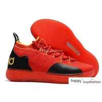 Wholesale mens kd running shoes resale online - 11s Designer Kids Basketball Kevin Durant Zoom Mens Running Athletic Shoes Yellow Kd Ep Elite Low Sport Sneakers
