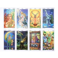 Wholesale 78pcs Wheel Of The Year Tarot Cards English Divination Playing Cards Game Board Game For Party yxldKe otsweet