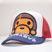 Wholesale monkey hat for sale - Group buy New boys Cartoon monkey pointed hat top top and girls children s baseball cartoon monkey net cap peaked cap summer sun protection sun hat ws