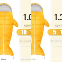 Wholesale penguin types resale online - Outdoor Warm adult creative sleeping bag thickened autumn and winter indoor warm ultra light portable camping Penguin sleeping bag
