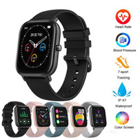 Wholesale blue watches for men resale online - ID P8 Smart Watch Men watchs Women IP67 Waterproof Fitness Tracker Sport Heart Rate Monitor Full Touch Smartwatchs for Amazfit Gts Xiaomi
