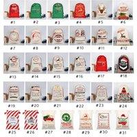 Wholesale 31 style bags resale online - 31 STYLES Christmas Gift Bags new Christmas Bag Drawstring Bag With Reindeers Santa Claus Sack Bags For Santa Sack kid Bag EEA1868