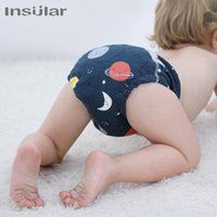 Wholesale xl baby diapers for sale - Group buy 2020 Double Gussets Baby Nappy All in two Ai2 Bamboo Charcoal Cloth Diaper Reusable Eco friendly Diaper New Pocket Diaper g30