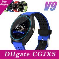 Wholesale smart watch sync android phone online – New V9 Smart Watch Bluetooth Sports Wirstwatch With Camera Slot Call Sync Gps Support Sim Tf Card Wearable Devices For Android Phone