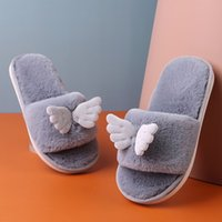 Wholesale cute shoes for kid boy resale online - New Kids Slippers Shoes For Boys Girls Slippers Outdoor Fashion Warm Cute Angel Children Shoes Winter Home