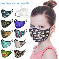Wholesale 3d chips for sale – best Animal vortex lines D print kids face masks can be equipped with filter chip to prevent smog and dust fashion face mask EWC931