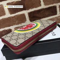 Wholesale love wallets resale online - qianqianli4 KZNA Top Quality Celebrity Letter embroidery Love Zipper wallet Canvas Cowhide Leather Black Long Purse Clutch