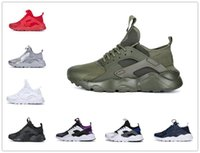 Wholesale cool mens running shoes resale online - 2019 huarache run ultra men Women running shoes triple black white red Cool Grey pink mens trainer breathable sneaker outdoor sports walking