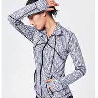 Wholesale Front Zip Women Running Jacket Thumb Hole Yoga Jacket Zipper Fitness Sportswear Top Sport Gym Workout Sweater Jogging jogger