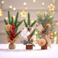 Wholesale tabletop christmas decorations for sale - Group buy Creative Mini Christmas Tree Decoration Small Tree Decoration Tabletop Atmosphere Decoration Simulation Christmas Tree Gift