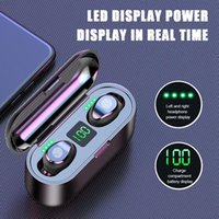 Wholesale bluetooth earphone retail packing online – Cgjxs New F9 Wireless Headphones Bluetooth Tws Headset Hifi Mini In Ear Sports Running Earphone With mah Power Bank Retail Packing
