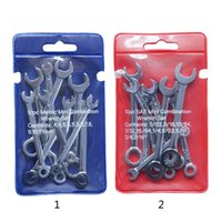 Wholesale engineering set for sale - Group buy 10Pcs Mini Engineer Wrench Dual Heads Offset Ring Spanner Tools Spanner Combination Key mm Wrenches Hand Set