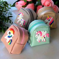 Wholesale horse wallets purses resale online - Creative personalized cartoon horse PU leather Korean style storage bag key case wallet Key case women s coin purse