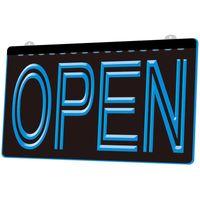 LS0004 OPEN Overnight Shop Bar Pub Club 3D Engraving LED Light Sign Wholesale Retail