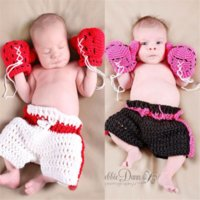 Wholesale children models baby clothing for sale - Group buy GV0KM Photo Studio Photography clothing handmade knitted boxing and glovesClothing gloves gloves baby and children modelling boxing king pho