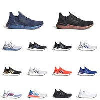 hommes ultra boost achat en gros de-adidas ultraboost 20 hommes femmes chaussures de course Noir Signal Cyan Tech Indigo Core Black Dash Grey ultra boost baskets de sport pour hommes