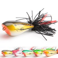 Wholesale plastic fishing lures frog resale online - Fishing Lure Sequins Accessories Catching Frog Shaped Plastic Hard Bait Random Color