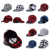 Wholesale party hat resale online - 11 style Red Buffalo Check Hats Red Plaid Baseball Cap Plaid Beanie Casquette Ball Cap Checkered Party Hats Supplies RRA3427