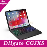 Wholesale keyboard ipad pro resale online - Wireless Bluetooth Keyboard Cover Case For Ipad Pro Inch With Colorful Rgb Led Backlight F129s