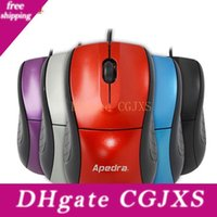 Wholesale mouse ergonomics resale online - New Wired Computer Gamer Mouse Ergonomics Simple Portable Led Optical Mouse Mice For Pc Laptop Notebook Home Office Accessories Color M1