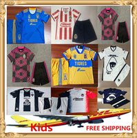 Wholesale club america kids resale online - DHL Club America Kids soccer Jersey Chivas Tigres Santos Tijuana Cruz Azul LEON Kids Size can be mixed batch