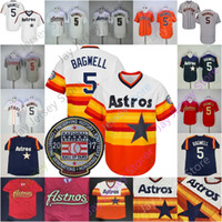 Jeff Bagwell Jersey Rainbow 2017 Hall Of Fame Houston Red Grey Orange Navy Home Away All Stitched