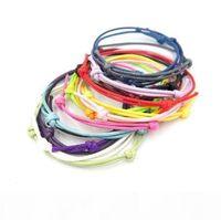 Wholesale custom jewelry bags resale online - 50pcs bag Korea Wax Cord Friendship Bracelet Adjustable DIY Findings for Jewelry Making Accessories Wedding Party Finding Custom