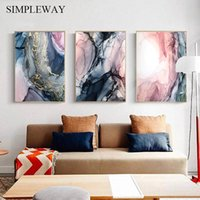 Wholesale painting contemporary abstract resale online - Modern Abstract Painting Wall Art Canvas Nordic Poster and Print Contemporary Art Decorative Picture Living Room Home Decoration