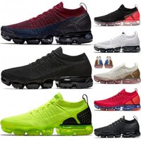 Wholesale fly racing resale online - Free Run Cushions Running Chaussures Fly Knit Men Women Triple Black Race Blue Cast Grey Metallic Gold MOC Trainers Sneakers