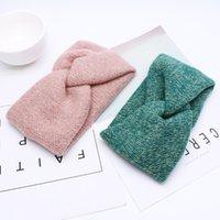 Soft Woolen Cross Braid Knitted Headband for Women Warmer Ear Solid Color Turban Hairband Women Hair Accessories Winter Bandana