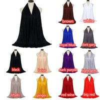 Wholesale new fashion hijab turban scarf for sale - Group buy Muslim Ladies Shawl Scarf Autumn New Solid Color Long Shawl Muslim Traditional Fashion Scarf Ladies Turban Hijab