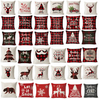 Wholesale couch chairs for sale - Group buy Christmas Pillow Cover Living room Decorative Pillows Christmas Cushion Cover Couch Plaid Pillow Chair Cushion Cover X45cm